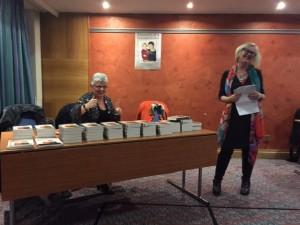 Maxine Hawthorn and Carol Fox at Memoirs book launch