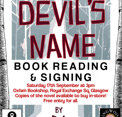 'In the Devil's Name' reading + signing this weekend