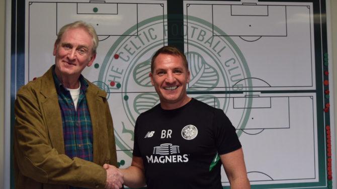 Celtic manager congratulates author Alex Gordon